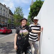 Der Zaun der ZHB-Baustelle wird zum Kunstprojekt. Bild: PD