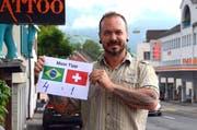 Luciano da Gama ist überzeugt, dass Brasilien die Schweiz am Sonntag besiegen wird. (Bild: Corinne Hanselmann)