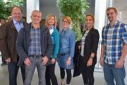 Der Märstetter Gemeinderat mit den drei bisherigen Mitgliedern Heinz Nater, Guido Stadelmann, Diana Manser und den drei neu gewählten Sabina Michel, Indira Marazzi und Beat Keck.