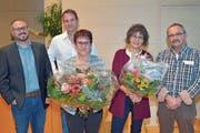Der Affeltranger Gemeinderat: Dominik Schegg, Glauco Schaub, Präsidentin Ursula Klaus, Käthi Burkhard und Peter Walder. (Bild: Mario Testa)