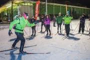 Schnupperkurse für angehende Langläuferinnen und Langläufer finden diesen Dienstag und Mittwoch auf der City-Loipe auf der Kreuzbleiche statt. (Bild: Ralph Ribi - 5. Februar 2019)