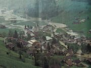 Das Thurtal zwischen Unterwasser und Starkenbach glich vor 20 Jahren für Stunden einer Seenlandschaft. (Bild: PD)