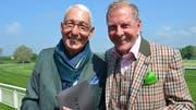 Turf-Club Präsident Heinz Belz mit Ehrengast Kurz Aeschbacher. (Bild: Margrith Pfister-Kübler)