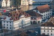 Das Natur-Museum und das Historische Museum am heutigen Standort. (Bild: Boris Bürgisser, Luzern, 22. Januar 2018)