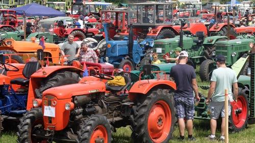 Traktoren soweit das Auge reicht. (Bilder: Stefan Hilzinger)