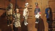 Zahlreiche Gegenstände aus dem Alltag vor rund 100 Jahren – wie etwa diese Spielfiguren – sind im Tätschdachhuus ausgestellt.