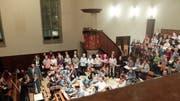 Probe für das «Weihnachtsoratorium nicht nur für Kinder» in der Evangelischen Stadtkirche. (Bild: Stefan Hilzinger)