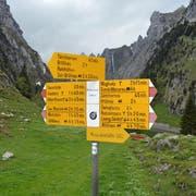 Zahlreiche Wanderwegweiser suchen einen neuen Verwendungszweck.
