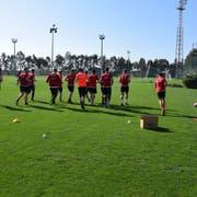 Dem Arboner Fussballverein wird nachgesagt, dass er immer wieder sehr aggressiv sei: Spieler der AS Scintilla beim Training. (Bild: PD)
