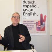 Felix Baumgartner fordert eine kritische Auseinandersetzung mit den Wertevorstellungen. (Bild: Gianni Amstutz)