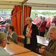 Freute sich über den lang anhalten Applaus: Caroline Bartholet. (Bilder: Tobias Söldi)