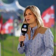 Fabienne Bamert am diesjährigen Rigi-Schwinget.