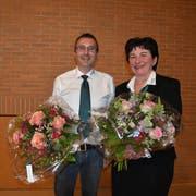 Treten aus dem Gemeinderat aus: Michael Waldburger und Christina Holzer. (Bild: Sheila Eggmann)