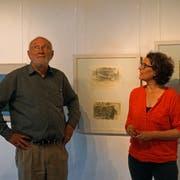 «Alles in allem»: Erich Brändle und Helga Sandl, Kuratorin und Direktorin des Museums Kunst + Wissen. (Bild: Dieter Langhart)