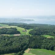 Vogelperspektive über dem Seerücken und dem Untersee. (Bild: PD)