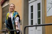 Genia Snihurowycz vor dem Dance Art Studio an der Neustadtstrasse 24a. (Bild: Boris Bürgisser (Luzern, 12. Juni 2018))
