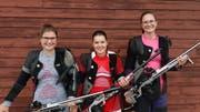 Die besten Urner Nachwuchsschützinnen; von links: Elena Epp, Sandra Arnold und Nina Stadler. (Bild: PD)