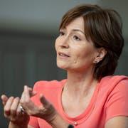 Grünen-Präsidentin Regula Rytz darf auf Sitzgewinne ihrer Partei hoffen. (Bild: ky)