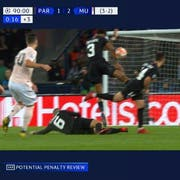 Hands oder nicht? Die umstrittene Szene im Spiel PSG gegen Manchester United.