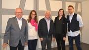 Sepp Germann, Chantal Schmid, Ueli Roth, Martina Schlumpf und Philpp Kamm, fünf der sechs im Amt bestätigen Vorstandsmitglieder des Fördervereins Klangwelt Toggenburg. (Bild: Adi Lippuner)