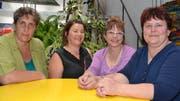 Verena Signer, Sennwald, Gertrud Gantenbein, Grabs, Präsidentin Christine Scherrer, Salez und Brigitta Scherrer, Grabs (von links), bildeten den Vorstand der IGMB. (Bild: Adi Lippuner)