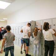 Sportschüler im Stadiongebäude Kleinfeld in Kriens. Seit diesem Sommer werden sie dort unterrichtet. (Bild: Roger Grütter (27. August 2018)