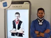 Mirco Scherrer ist das Gesicht auf den TOM-Plakaten. Das Foto dafür wurde glücklicherweise vor seinem Turnunfall geschossen. (Bild: Ruben Schönenberger)
