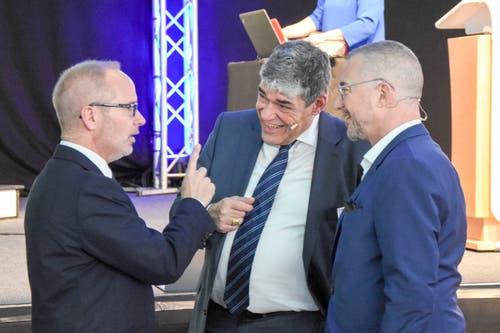 Stefan Kölliker, Felix Blumer und Patrick Rohr (von links). (Bild: Urs M. Hemm)