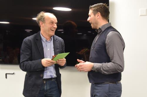 Zwei Brüder im Geiste? Zumindest bei Umweltfragen scheinen Guido Wick (links) und Marc Flückiger das Heu auf derselben Bühne zu haben.