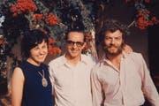 Das Ehepaar in den 70er-Jahren in Angola mit dem ehemaligen Leiter einer Missionsstation (Mitte). (Bild: PD)