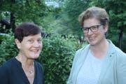 Regula Gerig (rechts) hat Margrit Freivogel Kayser als Geschäftsstellenleiterin abgelöst. Bild: Marion Wannemacher (Ennetbürgen, 29. Mai 2018)