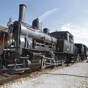 Die Dampflok 5 «Tigerli» am Bahnhof Triengen. (Bild: Philipp Schmidli)