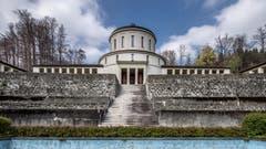 Das alte Krematorium: Offiziell 1925 eröffnet, wurde Carl Spitteler schon am 31. Dezember 1924 hier kremiert – als erste Person in Luzern überhaupt. (Bild: Pius Amrein, 15. April 2019)