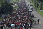 Tausende Migranten sind auf dem Weg in die USA. (Bild: John Moore/Getty, Ciudad Hidalgo, 21. Oktober 2018)
