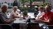 Hier ist immer etwas los: Das Café Centrum ist ein wichtiger Treffpunkt der Gemeinde Wartau. (Bild: Jessica Nigg)