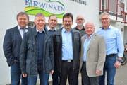 Der Birwinker Gemeinderat: Präsident Peter Stern, Marcel Wermuth, Thomas Schenk, Daniel Breitenmoser, Thomas Häberli, René Ehrismann und Peter Brühlmann (neu). (Bild: Mario Testa)