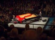 Eröffnung des Piano-Festivals 2017: «Piano Off-Stage» mit Tommy Weiss und Lluãs Coloma im Duett. (Bild: Priska Ketterer/Lucerne Festival (Luzern, 21. November 2017))
