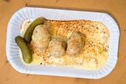 Raclette mit Kartoffeln.