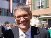Nationalrat Karl Vogler beim Staatsakt 600 Jahre Bruder Klaus . (Bild: Romano Cuonz (Sarnen, 30. April 2017))