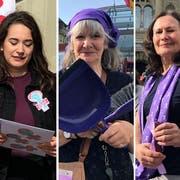 Susanne Ducommun protestiert gegen die deutlich tieferen Renten von Frauen.