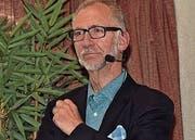 Präsident John de Haan leitete die 99. Generalversammlung des Gewerbeverbandes, der 2019 jubiliert. (Bilder: Robert Hess (Sarnen, 16. Mai 2018))