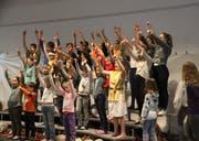 Der Kinderchor des Musicals. (Bild: Nicolas Düsel)
