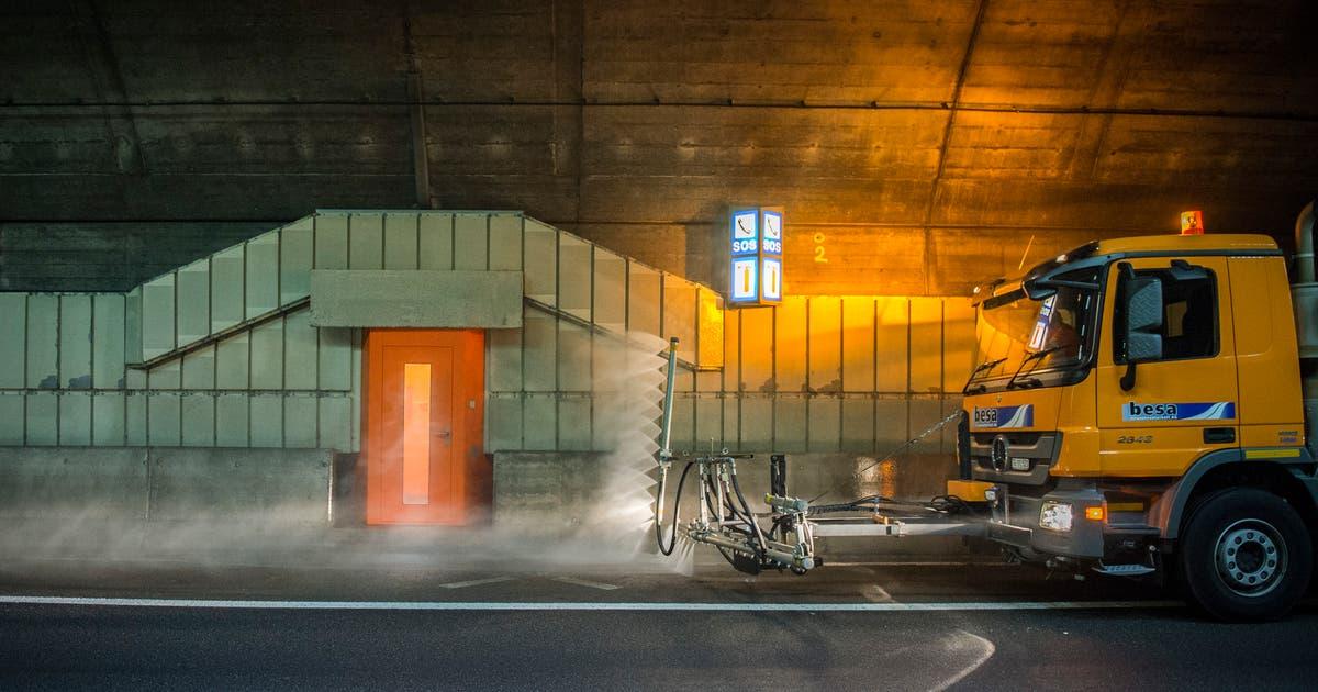 Tunnelreinigung und Vorarbeiten: In diesen Nächten wird die St.Galler Stadtautobahn komplett gesperrt | St.Galler Tagblatt