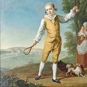 Mit adeligen Attributen: «Porträt der Kinder de Bauffrement», 1782. (Bild: Johann Melchior Wyrsch/Kunstmuseum Luzern)