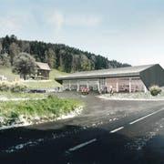 So soll der Werkhof in Udligenswil aussehen. Visualisierung: PD