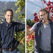 Weinbau ist ihre Leidenschaft: Roman Rutishauser (links) und Marco Casanova. (Bilder: Ralph Ribi/Thomas Hary)