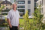 Patrick Schnellmann ist Kandidat für den Gemeinderat in Emmen. Fotografiert am 10. September 2018 in Emmenbrücke im Quartier Sonnenhof, wo er Quartiervereinspräsident ist.LZ/ Boris Bürgisser