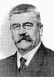 Albert Kuhn, 1859-1929, «Traube»-Wirt, Gemeindeammann und Bezirksammann.