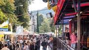 Der St.Galler Herbstjahrmarkt wird auch dieses Jahr wieder von Wildpinklern und Vandalen heimgesucht. (Bild: Hanspeter Schiess, 12. Oktober 2019)