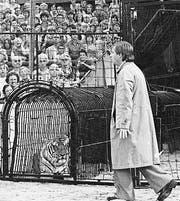 Emil in einer Vorstellung des Circus Knie 1977. (Bild: PD)